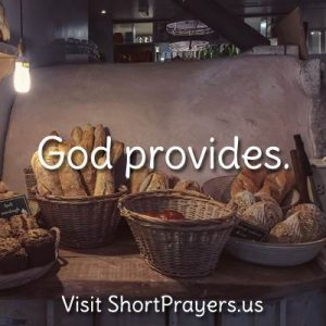 God provides prayer
