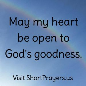 short prayer on God's goodness
