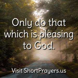 prayer to please God