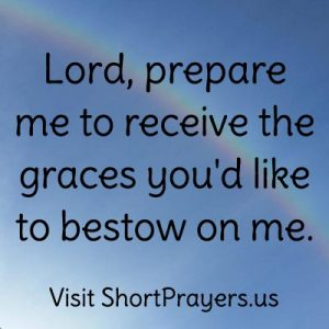 short prayer for grace