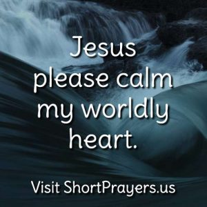 prayer to be calm