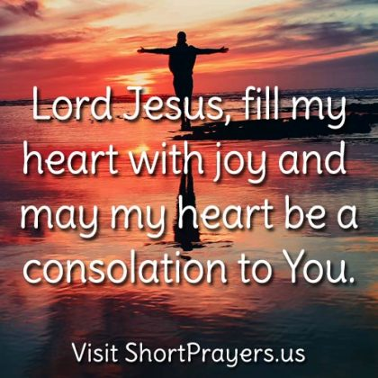 short prayer for joy