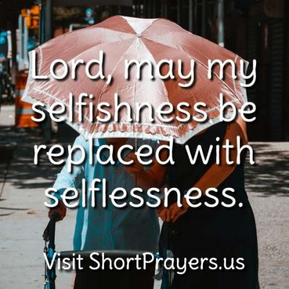 a selfless prayer