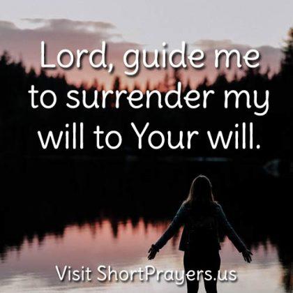 surrender my will prayer